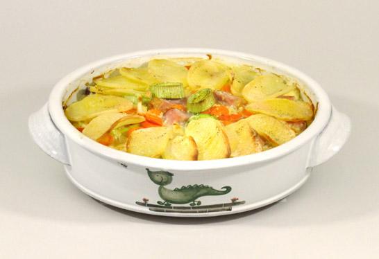 Gemüse-Kartoffel-Auflauf mit Kassler