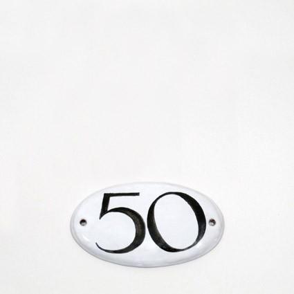 kleine Hausnummer oval