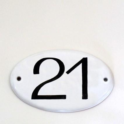 große Hausnummer oval